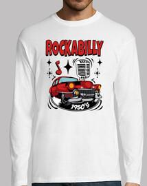 t-shirt rockera vintage rockabilly musique Rocker années 50 retro rock and roll american classic car