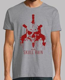 t-shirt rouge pluie skull