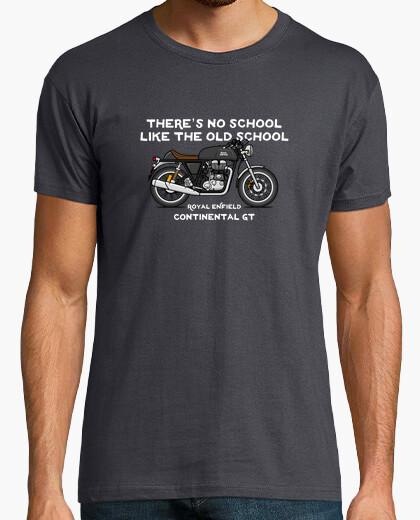 T-shirt royal continental gt nero enfield