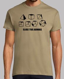 t-shirt rpg - scegliere armi