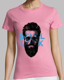 t-shirt schädel / totenkopf - look blau