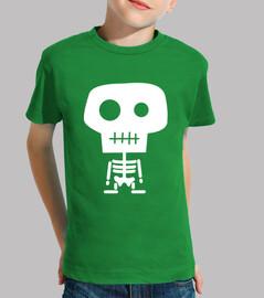 t-shirt scheletro bambino vari colori