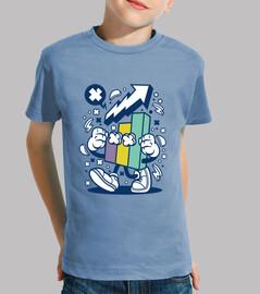 t-shirt scolastica divertente del cartoni animati
