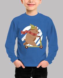 t-shirt scooter bear