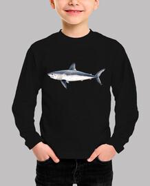 t-shirt shark (lamna nasus)