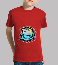 t-shirt shark shark is back attack child