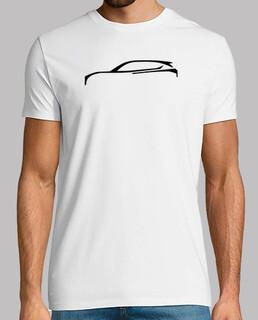 t-shirt silhouette nera - 1 facciata