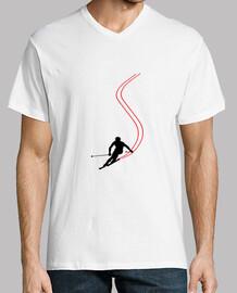 T-Shirt Ski - Snowboard - Montagne