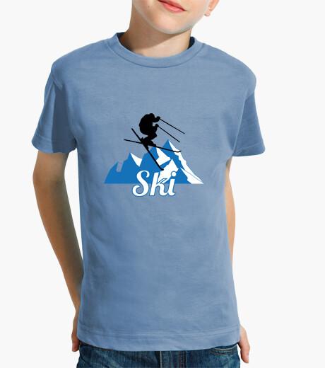 Vêtements enfant T-Shirt Ski - Snowboard - Montagne