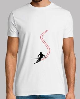 t-shirt skifahren - snowboarden - berg