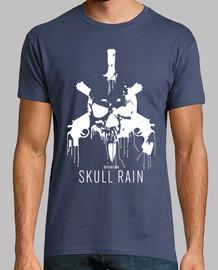 t-shirt skull bianco pioggia