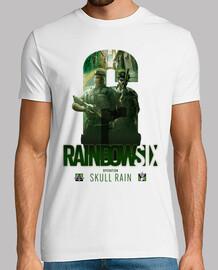 t-shirt skull pioggia