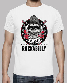 t-shirt skull rockabilly