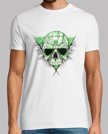 t-shirt skull smeraldo (manica corta)