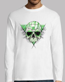 t-shirt skull smeraldo (manica lunga)
