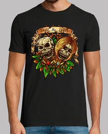 t-shirt skull teschio terrore teschi vintage colore vintage
