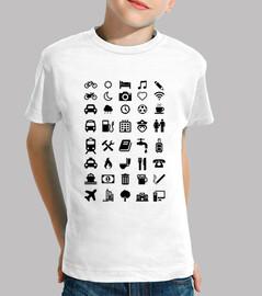 t-shirt smileys weiß reisenden