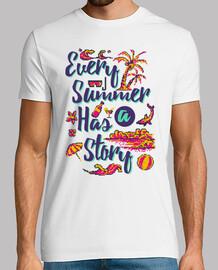 t-shirt sole da spiaggia vintage pixel art estate anni '80 vintage anni '90