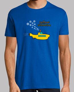 t-shirt sous-marin jaune