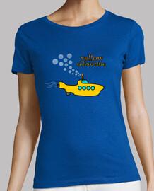 t-shirt sous-marin jaune ( femme )