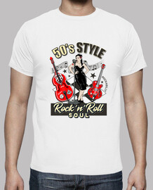 t-shirt stile anni '50 - rockabilly - pin up