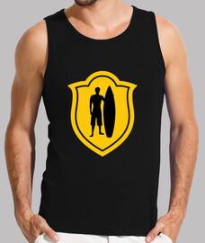 T-shirt Surf homme sans manches, Noir