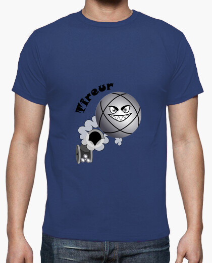 T-shirt t shirt petanque shooter palla da bambino esiste in pointer n