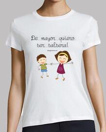 t-shirt taglio da mayor voglio essere coppia salsera