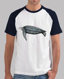 t-shirt tartaruga liuto (dermochelys coriacea)