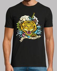 t-shirt tattoo tigre animale felino giungla safari zoo vintage vintage