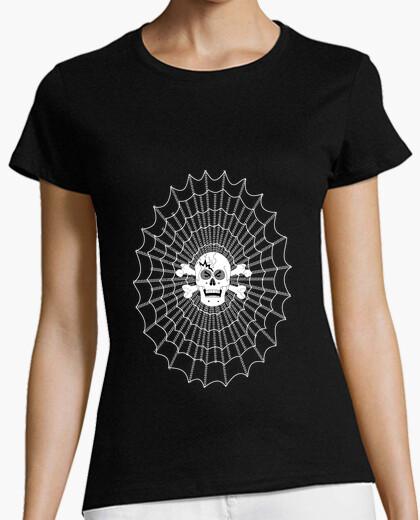 T-shirt tee shirt donna tela web gamer teschio darknet