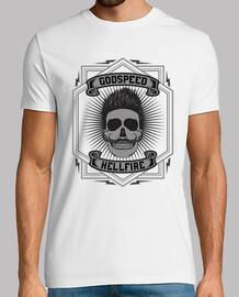 t-shirt teschio godspeed