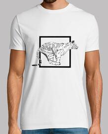 t-shirt tigre bianca
