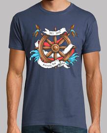 t-shirt timone navicella marinaio tattoo vintage capitano tatuaggio barche