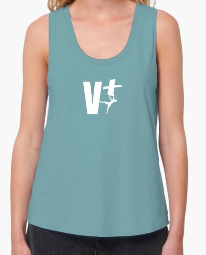 T-shirt Top donna, senza maniche, blu reale
