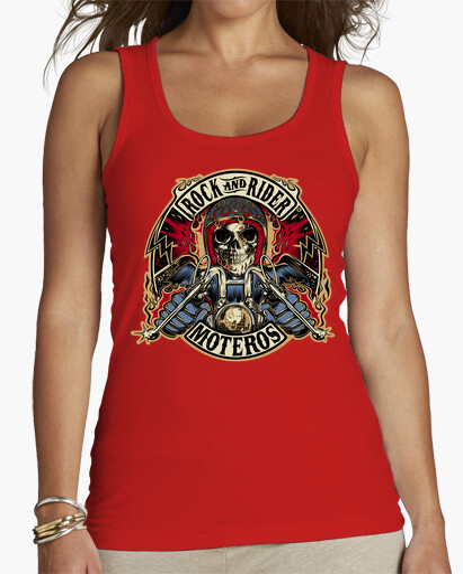 T-shirt Top donna, senza maniche, rosso