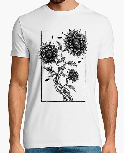 Tee-shirt t-shirt tournesols dessin art plante fleurs champ