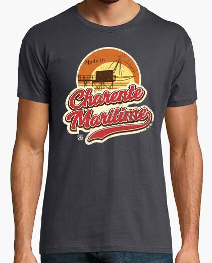 T-shirt tramonto marittimo di charente di...