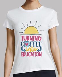 t-shirt trasforma il coffee in educazione