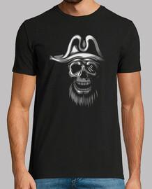 t-shirt uomo - skull piratas bianchi