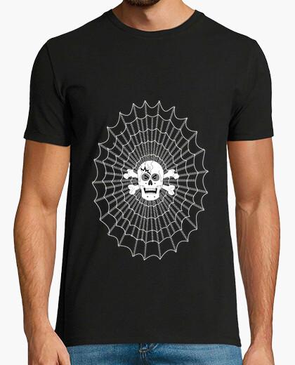 T-shirt uomo canvas web gamer teschio darknet