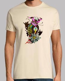 t-shirt uomo gufo cosmico