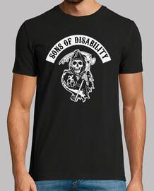 t-shirt uomo manica corta sons of disabilità