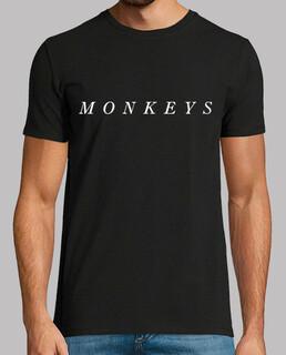 t-shirt uomo monkeys artiche, manica corta, nera