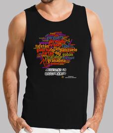 T-shirt uomo senza maniche, nero