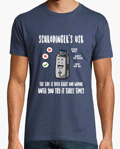 Tee-shirt t-shirt usb de schrödinger