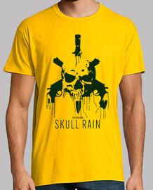 t-shirt vert pluie skull
