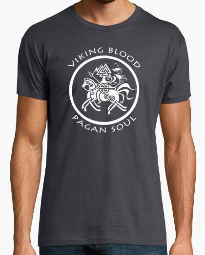 Camiseta t-shirt viking blood pagan soul