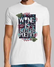 t-shirt vino d'uva bevande wine è in bottiglia poesia