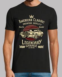 t-shirt vintage américain voiture classique